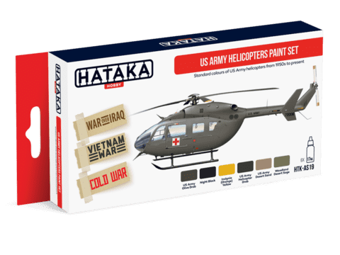 US Army Helicopters Paint Set Hataka Hobby