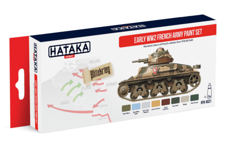 Early WW2 French Army Paint Set Hataka Hobby