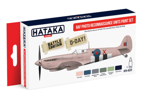 RAF Photo Reconaissance Units Paint Set Hataka Hobby - PRÉ-VENDA