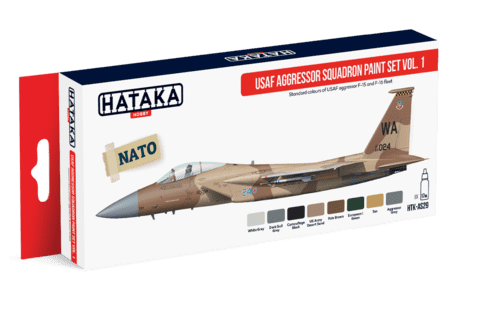 USAF Aggressor Squadron Paint Set Vol.1 Hataka Hobby