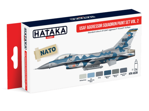 USAF Aggressor Squadron Paint Set Vol.2 Hataka Hobby