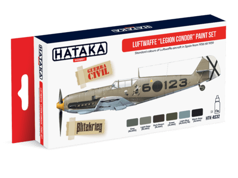 Luftwaffe Legion Condor Paint Set Hataka Hobby - PRÉ-VENDA