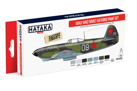 Early WW2 Soviet Air Force Paint Set Paint Set Hataka Hobby - Pré-venda