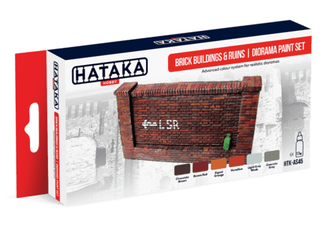 Brick Buildings and Ruins Diorama Paint Set Hataka Hobby