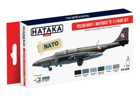 Polish Navy and Air Force TS-11 Paint Set Hataka Hobby - Pré-venda