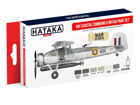 RAF Coastal Command and RN Fleet Air Arm Paint Set Hataka Hobby