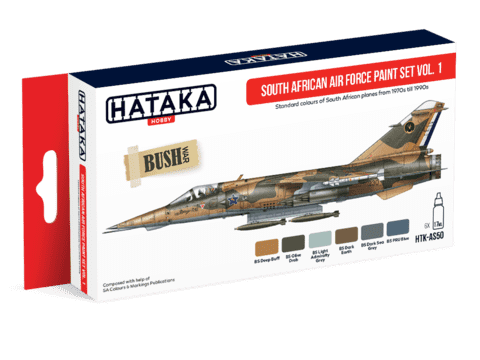 South African Air Force Paint Set Vol1 Hataka Hobby - PRÉ-VENDA