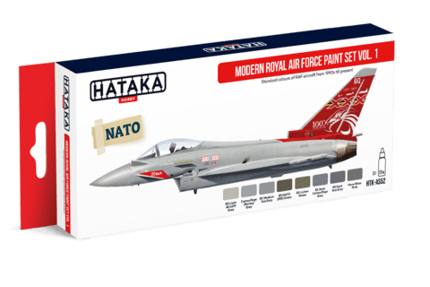 Modern Royal Air Force Paint Set Vol1 Hataka Hobby