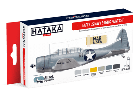 Early US Navy & USMC Paint Set Hataka Hobby