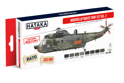 Modern Luftwaffe Paint Set Vol2 Hataka Hobby
