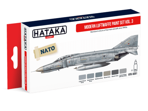 Modern Luftwaffe Paint Set Vol3 Hataka Hobby - Pré-venda