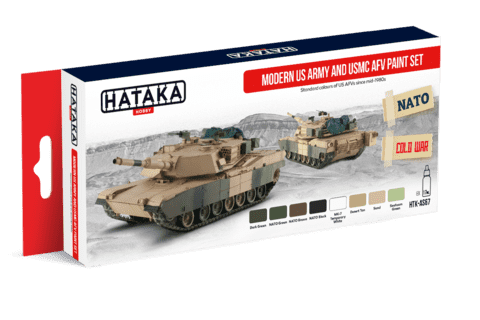 Modern US Army and USMC AFV Paint Set Hataka Hobby - PRÉ-VENDA