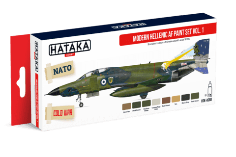 Modern Hellenic Air Force Paint Set Vol1 Hataka Hobby - Pré-venda