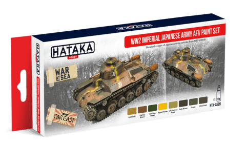 WW2 Imperial Japanese Army AFV Paint Set Hataka Hobby