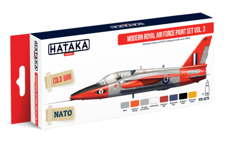 Modern Royal Air Force paint set vol. 3 Hataka Hobby - Pré-venda