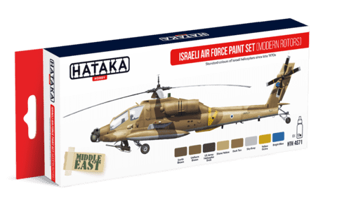 Israeli Air Force Paint Set (Modern Rotors) Hataka Hobby - PRÉ-VENDA