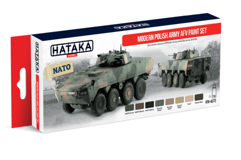 Modern Polish Army AFV Paint Set Hataka Hobby - Pré-venda