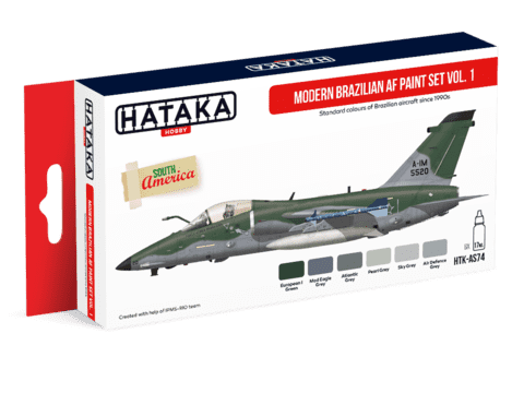 Modern Brazilian Air Force Paint Set Vol1 Hataka Hobby - PRÉ-VENDA