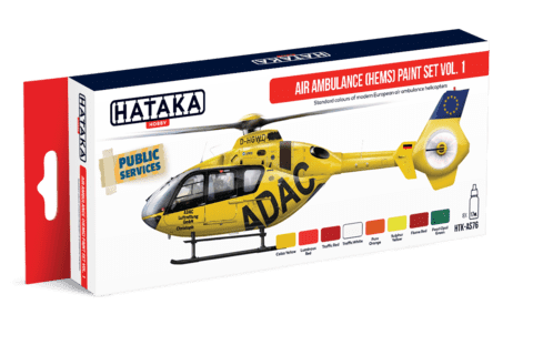 Air Ambulance (HEMS) Paint Set Vol1 Hataka Hobby - Pré-venda
