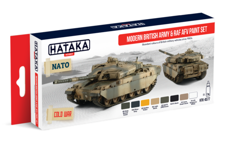 Modern British Army and RAF AFV Paint Set Hataka Hobby - PRÉ-VENDA