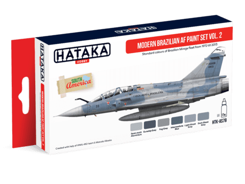 Modern Brazilian Air Force Paint Set Vol2 Hataka Hobby - PRÉ-VENDA