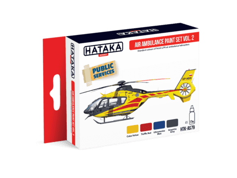 Air Ambulance (HEMS) Paint Set Vol2 Hataka Hobby - Pré-venda