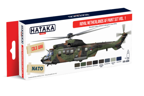 Royal Netherlands Air Force Paint Set Hataka Hobby - Pré-venda