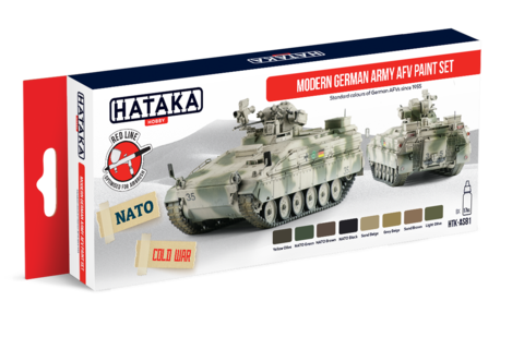 Modern German Army AFV Paint Set Hataka Hobby