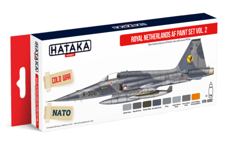 Royal Netherlands AF paint set vol. 2 Hataka Hobby - Pré-venda
