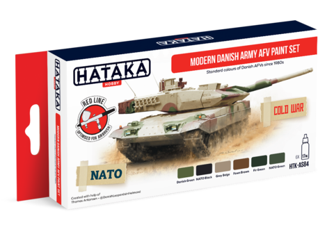 Modern Danish Army AFV Paint Set Hataka Hobby - Pré-venda