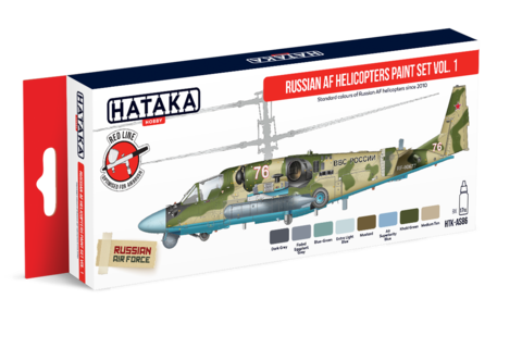 Russian AF Helicopters Paint Set Vol.1 Hataka Hobby - PRÉ-VENDA