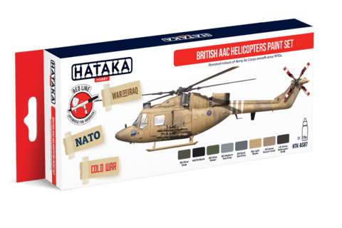 British AAC Helicopters Paint Set Hataka Hobby