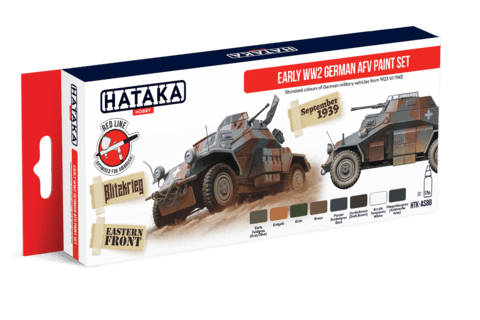 Early WW2 German AFV Paint Set Hataka Hobby - Pré-venda