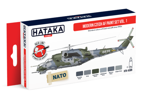 Modern Czech AF Paint Set Vol. 1 Hataka Hobby - Pré-Venda