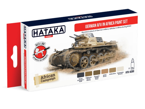German AFV in Africa Paint Set Hataka Hobby - Pré-venda