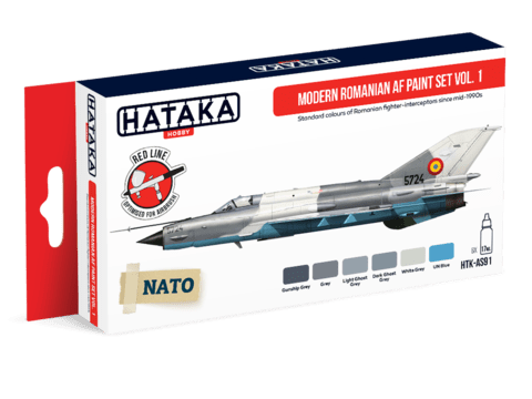 Modern Romanian AF Paint Set Vol. 1 Hataka Hobby - PRÉ-VENDA