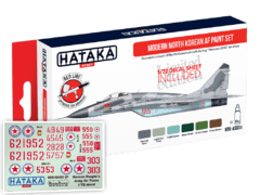 Modern North Korean AF Paint Set c/ decalques Hataka Hobby