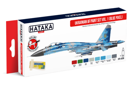 Ukrainian AF paint set vol. 1 Hataka Hobby - PRÉ-VENDA