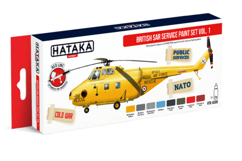 British SAR Service Paint Set vol. 1 Hataka Hobby - Pré-venda