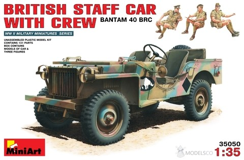 BRITISH STAFF CAR w CREW Miniart 1/35