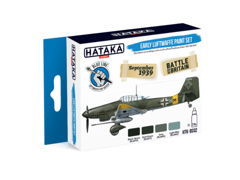 BLUE LINE - Early Luftwaffe Paint Set Hataka Hobby - PRÉ-VENDA