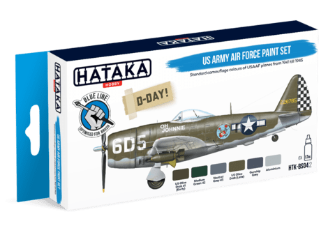 BLUE LINE - US Army Air Force Paint Set Hataka Hobby - Pré-venda