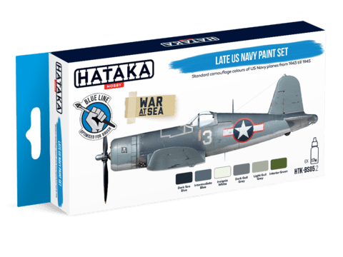 BLUE LINE - Late US Navy Paint Set Hataka Hobby - Pré-venda