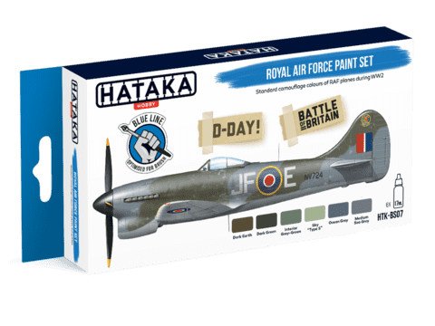 BLUE LINE - Royal Air Force Paint Set Hataka Hobby - Pré-venda