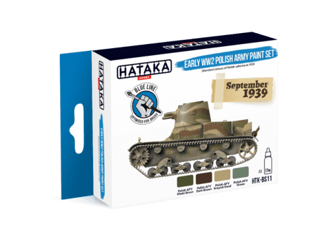 Early WW2 Polish Army Paint Set Blue Line Hataka Hobby - Pré-venda
