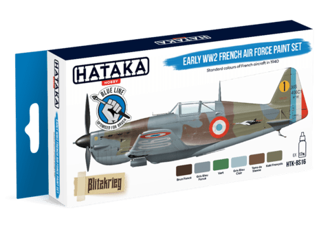 BLUE LINE - Early WW2 French Air Force Paint Set Hataka Hobby - Pré-venda