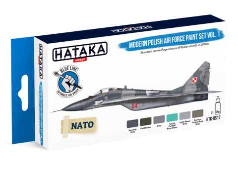 BLUE LINE - Modern Polish Air Force Paint Set Hataka Hobby - Pré-venda