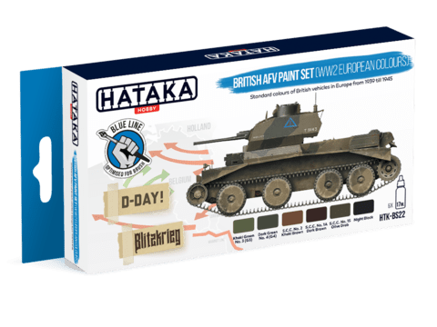 BLUE LINE - WW2 British AFV Paint Set Hataka Hobby - Pré-venda
