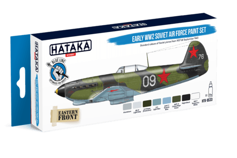 BLUE LINE - Early WW2 Soviet Air Force Paint Set Hataka Hobby - PRÉ-VENDA