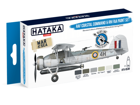 BLUE LINE - RAF Coastal Command and RN Fleet Air Arm Paint Set Hataka Hobby - Pré-venda